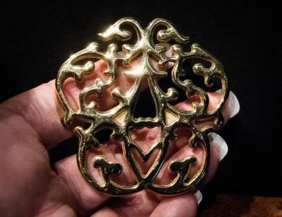 Heirloom Laquered Brass Williamsburg Cypher Christmas Tree Ornaments