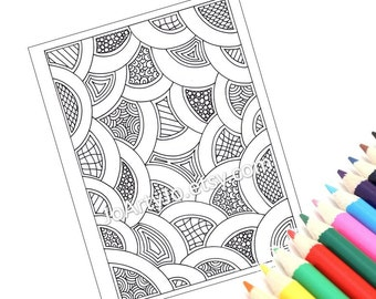 Zentangle Inspired Coloring Pattern Instant Download Page 53