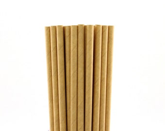 Kraft Solid Paper Straws-Kraft Straws-Party Straws-Paper Straws-Vintage Party Straws-New York Party Straws-Retro Paper Straws-Cake Pop Stick