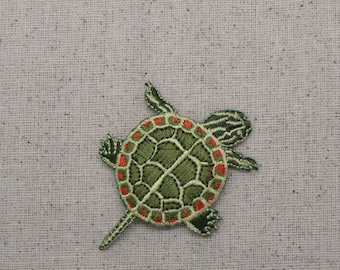 Painted Turtle - Iron on Applique - Embroidered Patch - 695537-A