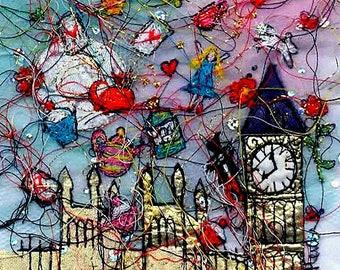 Alice in London Print
