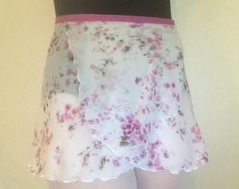 Adult Chiffon Ballet Wrap Skirt - Floral Print