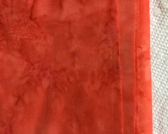 Fabric- Orange Batik  total = 1/2 yard