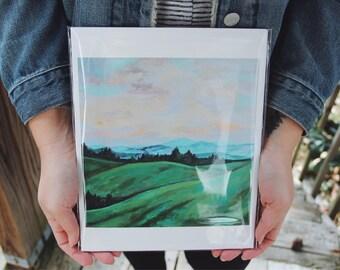 Peaceful Sky fine art reproduction giclee print