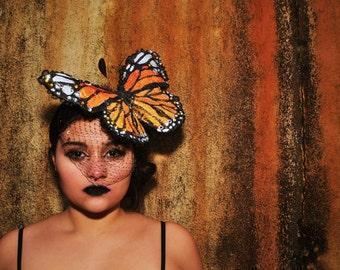 Stunning Monarch butterfly headpiece
