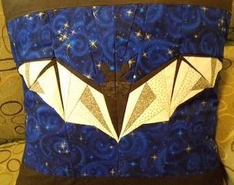 Batty Starry Night Quilted Bat Pillowcase