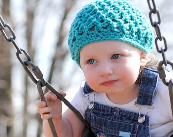 Crochet Hat Pattern - Easy, Breezy Beanie or Beret - All sizes included --- Very Fast and Easy ---  PDF 108- SELL what you make