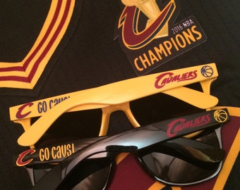 Personalized Sunglasses, Custom Sunglasses, Cleveland, LeBron, Cavaliers, Basketball, NBA, Birthday Party, Bachelor Party, Bachelor Gifts