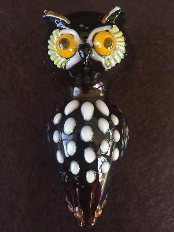Glass Pipe great horned owl