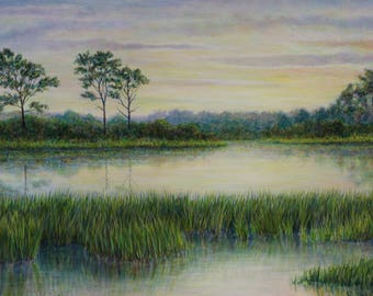 Outer Banks Painting Sunrise Nature Art Coastal Landscape Painting Original Art Contemporary Fine Art North Carolina