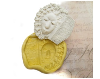 Tiki Face , designer mold,  silicone mold ,   -  craft mold - food mold - push mold - soap mold - - # 60