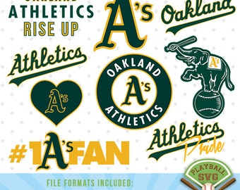 Oakland Athletics SVG files, baseball designs contains dxf, eps, svg, jpg, png and pdf files. PB-014