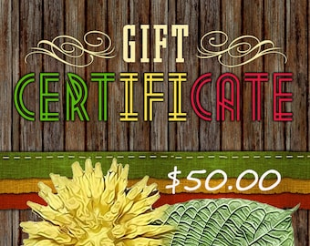 50 Dollar - WGseed Gift Certificate