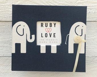 BABY BOOK | MOD Navy Elephants Album
