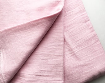 cotton double gauze fabric. soft japanese pure cotton fabric. 102cm (40in) wide. sold by 50cm (19in) long / half yard. baby pink