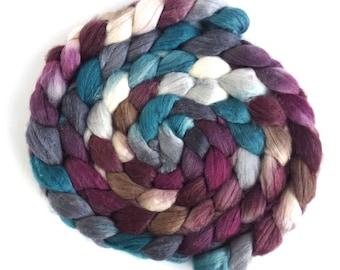 Merino/ Superwash Merino/ Silk Roving - Handpainted Spinning or Felting Fiber, Nanna