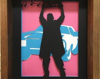 Say Anything - Lloyd Dobler - Papercut - Diorama