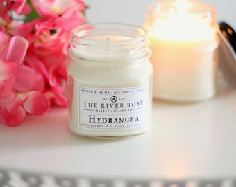Hydrangea | 100% Natural Soy Candle | Hand-Poured