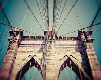 Brooklyn Bridge - New York - Brooklyn Bridge Art - Brooklyn Bridge Print - New York Art - Brooklyn - New York City - Large Wall Art