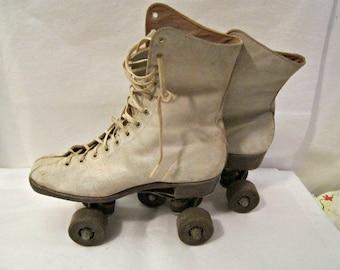 Vintage patins décoratif et fonctionnel, patins à roulettes taille Small