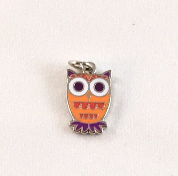 """Cute Owl 1/2"""" Enamel Charm"""