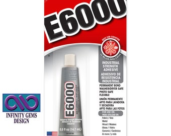 Genuine E6000 Industrial Strength Adhesive. Craft Glue - Jewelry Glue - 0.5 fl oz (14.7ml) and Nozzle - Shipping included