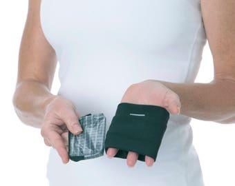 credit card wrist wallet combo
