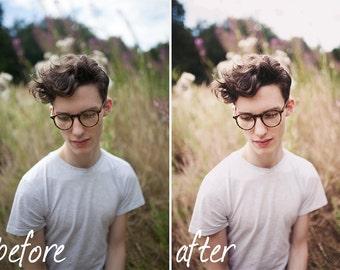Flowering Fields - Photoshop CS3+ Action | Vintage, Color Enhancement, Portrait Retouching