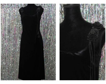 90's  Donna Morgan Long Gown Black Ball Evening Gown (10)