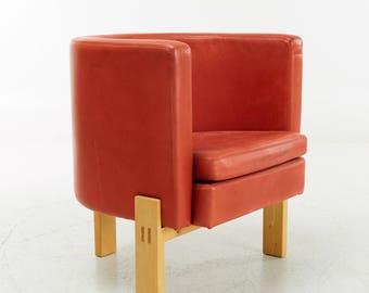 Erik Karlstrom Lounge Chair In Leather