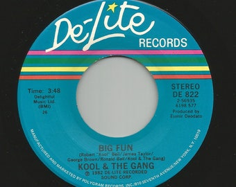 "Kool & The Gang - Big Fun / No Show on De-Lite 7"" Vinyl 45 rpm 80's Soul / Disco"