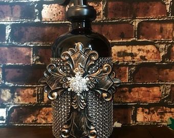 Glass Soap Dispenser  Soap Dispenser  Lotion Dispenser Cross Dispenser  Water Well Pump