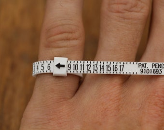 Whats my Ring Size?  Use This Ring Sizing Gauge To Measure At Home - Small Ring Gauge - Lightweight Ring Gauge