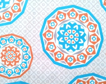 Fabric by the yard or fabric by the half yard, Cotton Fabric, or fat quarter, quilting fabric by the yard, Geometric Cyprus, HL10