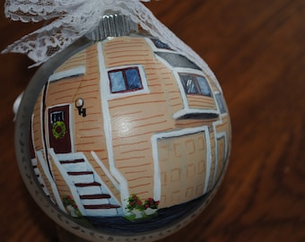 Our First Home Memory Ornament... Custom Hand Painted Ornament  - sold