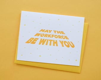 May the Workforce Be With You Graduation Card