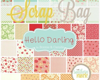 Hello Darling - Scrap Bag Quilt Fabric Strips by Bonnie and Camille for Moda