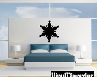 Snowflakes Vinyl Wall Decal Or Car Sticker - Mv036ET