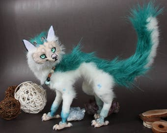FOR SALE! Lau Rong Aryel.OOAK Art Doll.Handmade Poseable Toy.Dragon Toy.Totem.Baby dragon.