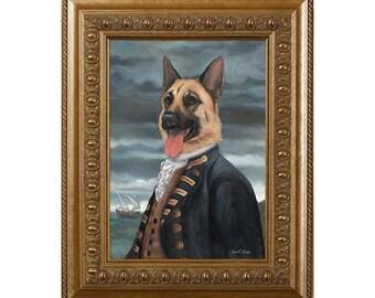 Dog Magnet, Admiral Shepherd, German Shepherd, Refrigerator Magnet