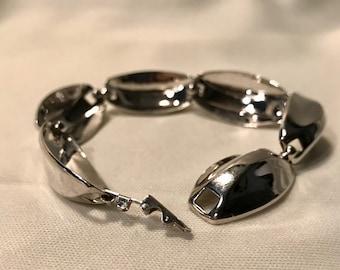 60's Silver Linked Bracelet           LV0168