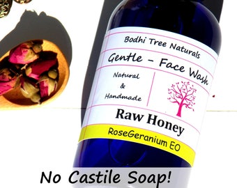 Natural Face Wash /Cleanser with True Raw honey + Baking Soda + Apple Cider Vinegar/PH Balance/All Skin Type/Natural Handmade Skin Care