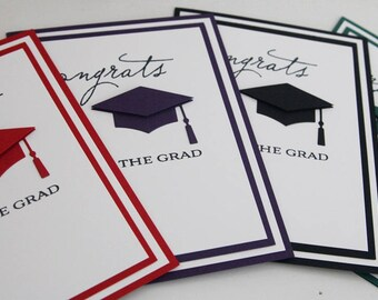 Congrats to the Grad Cap Hand Stamped Card, Congratulations Graduation Hand Made Card, Graduate Cap Greeting Card
