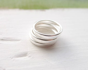 Stamping Rings in 3mm Blanks Sterling Silver for Handstamping and Stacking Size 6 Six (RHSR3326)