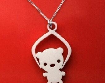 Toy Grabber Necklace -Bear
