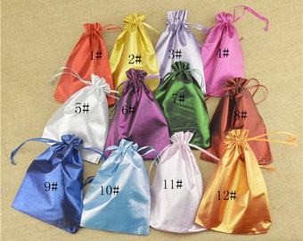 Wedding Favor Bags, Sachets, Gift Bags,Satin Jewelry Bags, Satin Gift Bags,Jewelry Gift Bag,Favor Pouch, Jewelry Bag,10pcs per color,BAG-005