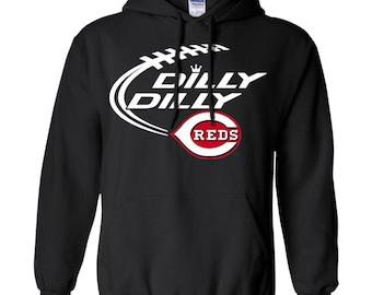 Dilly Dilly Cincinnati Reds Baseball Logo Pullover Hoodie 8 oz