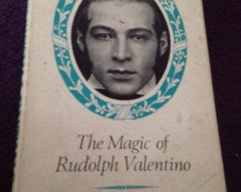 The magic of rudolph valentino 1974 hard back book retro reading