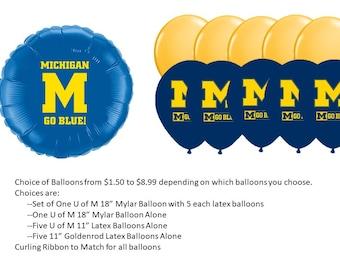 University of Michigan Balloons, U of M Balloons