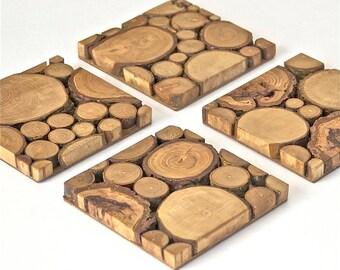 Wood Tree Slice Modern Wall Art Wooden Rounds Wood Slice Modern Art
